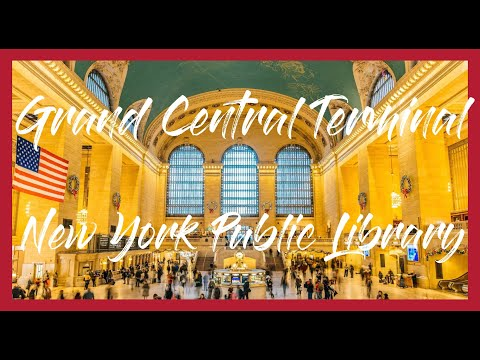 (HD1311) 2 minutes in Grand Central Terminal and New York Public library, Manhattan - GoPro