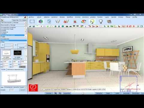 Como realizar el diseño de una cocina en 15 min mas fácil y sencillo ...