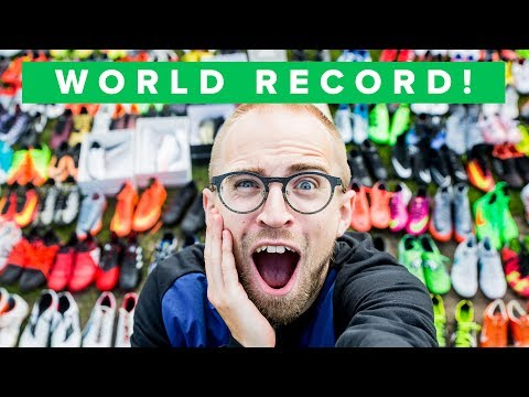 WORLDS BIGGEST FOOTBALL BOOT COLLECTION worth 210,000$