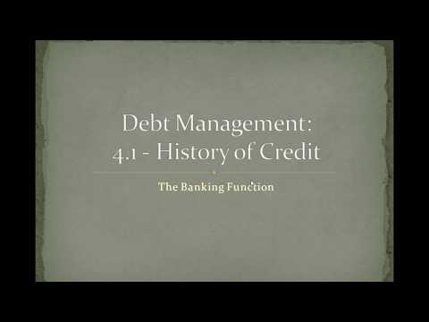 4.1 Debt Management: History of Credit
