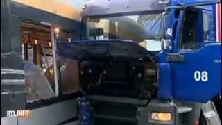 Violente collision entre un tram et un camion à Bruxelles