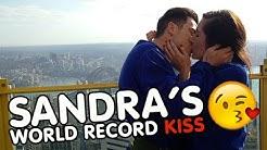 Sandra Breaks The Bachelor Kiss World Record