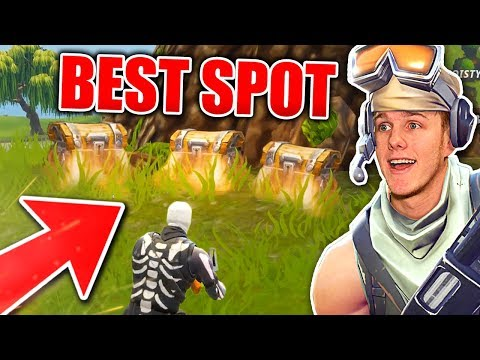 THE BEST SPOT TO LAND IN FORTNITE BATTLE ROYALE?!?