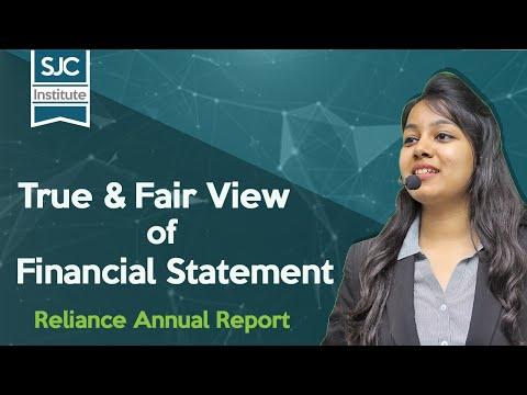 True and Fair view of Financial Statement | Reliance Annual Report | CA Samiksha Sethia