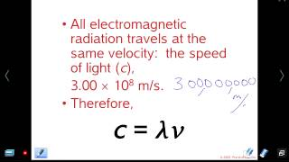 Mr Z AP Chemistry Chapter 6 lesson 1: Light, Wavelength, Frequency and Energy