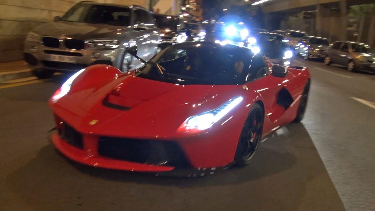 Ferrari LaFerrari cruising at night in Monaco!