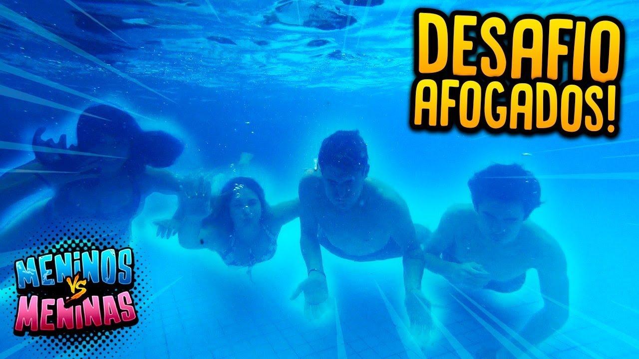 MENINOS VS MENINAS: DESAFIO MAIS DIFÍCIL DA PISCINA!! ( DEU RUIM ) [ REZENDE EVIL ]