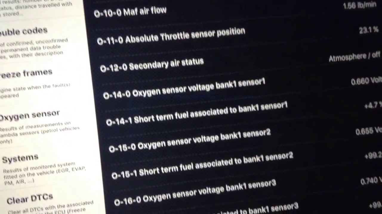 How to: Freeze Frame diagnostic for OBD scanner. Check Engine Light ...