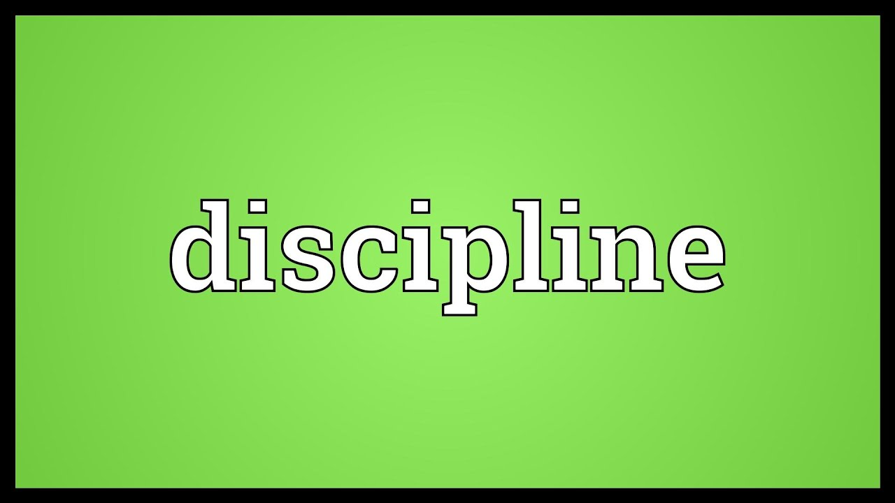 self discipline in life pdf