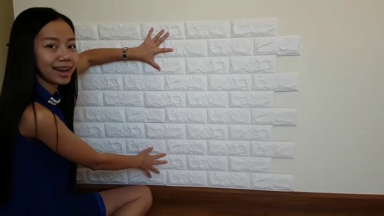 How To Install 3D Brick Wall Sticker