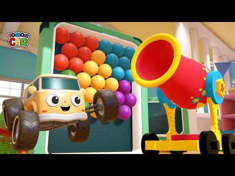 Learn Color Bubble Shooter Play | Nursery Rhyme Kids Songs Tomoncar World