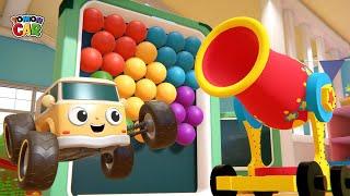 Learn Color Bubble Shooter play | nursery rhyme Kids Songs Tomoncar World screenshot 1