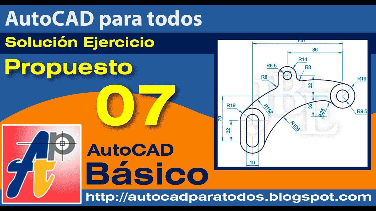 Solución Ejercicio Propuesto 07- AutoCAD Básico