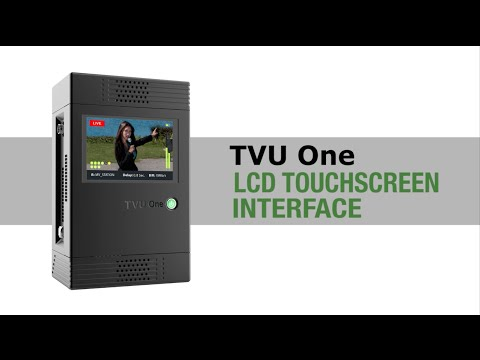 TVU One LCD Touchscreen Interface - TVU Academy Tutorial