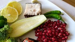 Здоровая еда-рыба с овощами