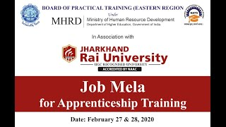Job mela for Apprenticeahip Training by Gov.   Btech/Diploma   latest jobs 2020