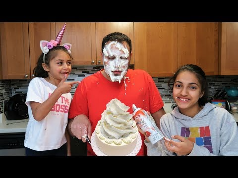 Cake Prank on My Dad! family fun vlog video