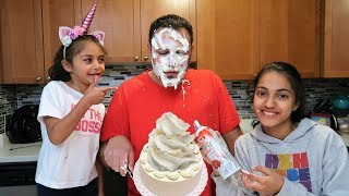 Cake Joke on My Dad! family fun vlog video