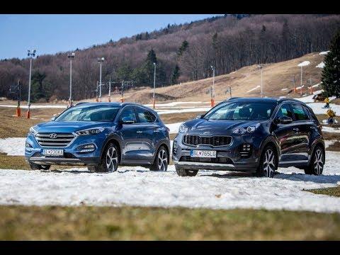 Hyundai Tucson verzus  Kia Sportage - TEST (Motoring 28.5. 2016)