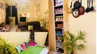 Small House Tour | Indian House Decor | 1 BHK Rented Flat Organisation