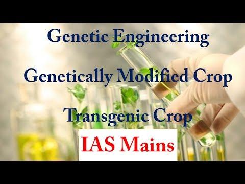 Genetic Engineering/Transgenic Crop/Genetically Modified(GM Crop)--IAS Mains (