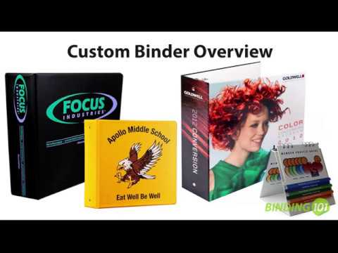 Binding101 Custom Ring Binder Overview