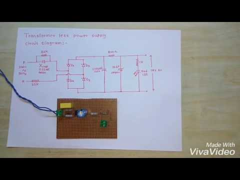Transformer less power supply with circuit diagram - YouTube