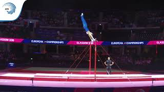 Nicolo MOZZATO (ITA) - 2018 Artistic Gymnastics European Champion, junior high bar
