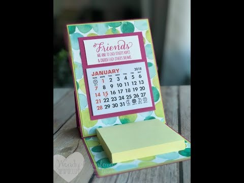 Simple Easel Calendar Gift