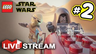 Lego Star Wars: The Force Awakens PART 2   Exploring Jakku & Niima Outpost   Live Stream