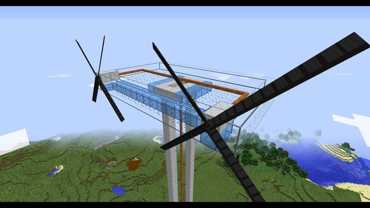 ветрогенераторы в майнкрафте и роторы #8