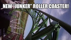 Junker Roller Coaster POV Powerpark Finland 2015 Awesome New Ride