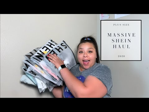 HUGE Shein Haul + Try On | Plus Size Clothing |  SO MUCH CLOTHES | 2020