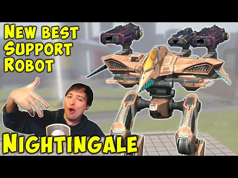 NEW Robot NIGHTINGALE - Test Server Gameplay BEST SUPPORT WR