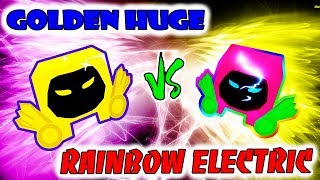POWER GOLDEN DOMINUS HUGE WITH RAINBOW ELECTRIC IN SIMULATOR (Roblox)