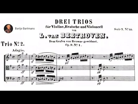 Beethoven - String Trio No. 2,  Op. 9 No. 1