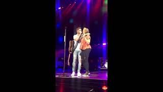 Thomas Rhett and Lauren during Unforgettable