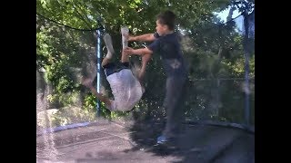 Funny Trampoline Fail Compilation