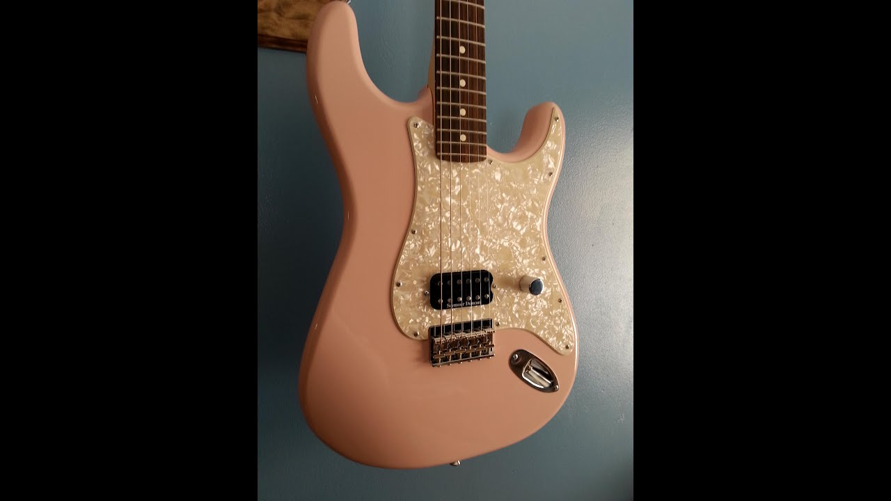 Shell Pink Fender Warmoth Strat Demo - FOR SALE!