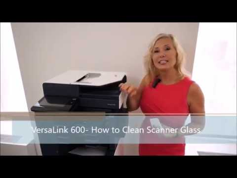 VersaLink 600 - How to Clean Scanner Glass