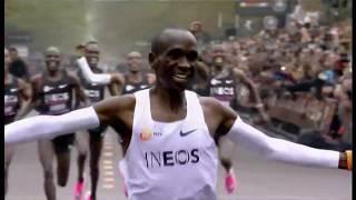 Eliud Kipchoge breaks two-hour marathon mark (Austria) - BBC News - 12th October 2019