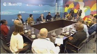 Встреча Путина с участниками Фестиваля молодежи и студентов в Сочи