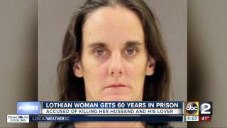 Lothian woman gets 60 years for killing her husband, their mistress