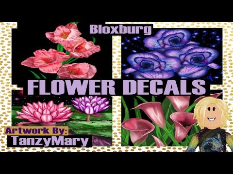 Roblox Bloxburg Decal ID's Codes Flowers & Adding Decal