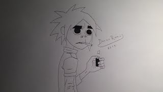 How to draw 2D from Gorillaz