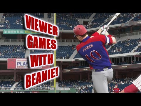 Viewer Games!! (Sponsors First) - Can You Beat Beanie?? - MLB The Show 18 Live