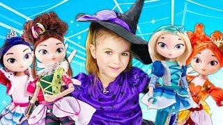 Сказочный патруль учатся волшебству - Приключения волшебниц. Мультики для девочек. Ведьмочка Юлли