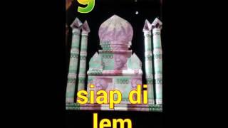 Membuat sendiri Mahar Masjid dari Uang untuk Pernikahan