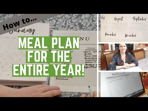 HOW TO make a YEAR long meal plan - It's not hard at all!