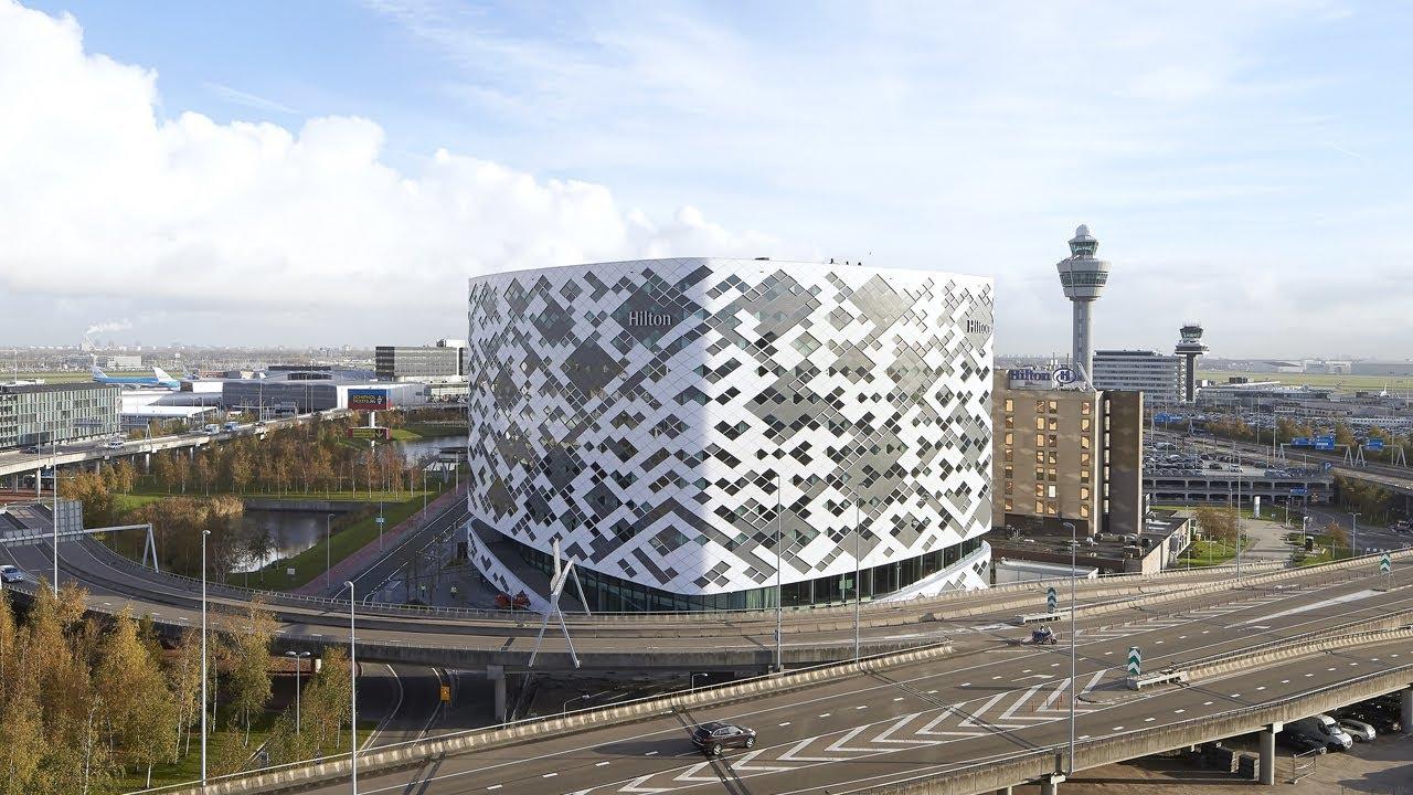 Hilton Amsterdam Airport Schiphol - work in progress - YouTube